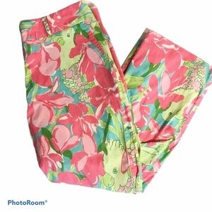 Lilly Pulitzer Birdie Print Trousers Size 8